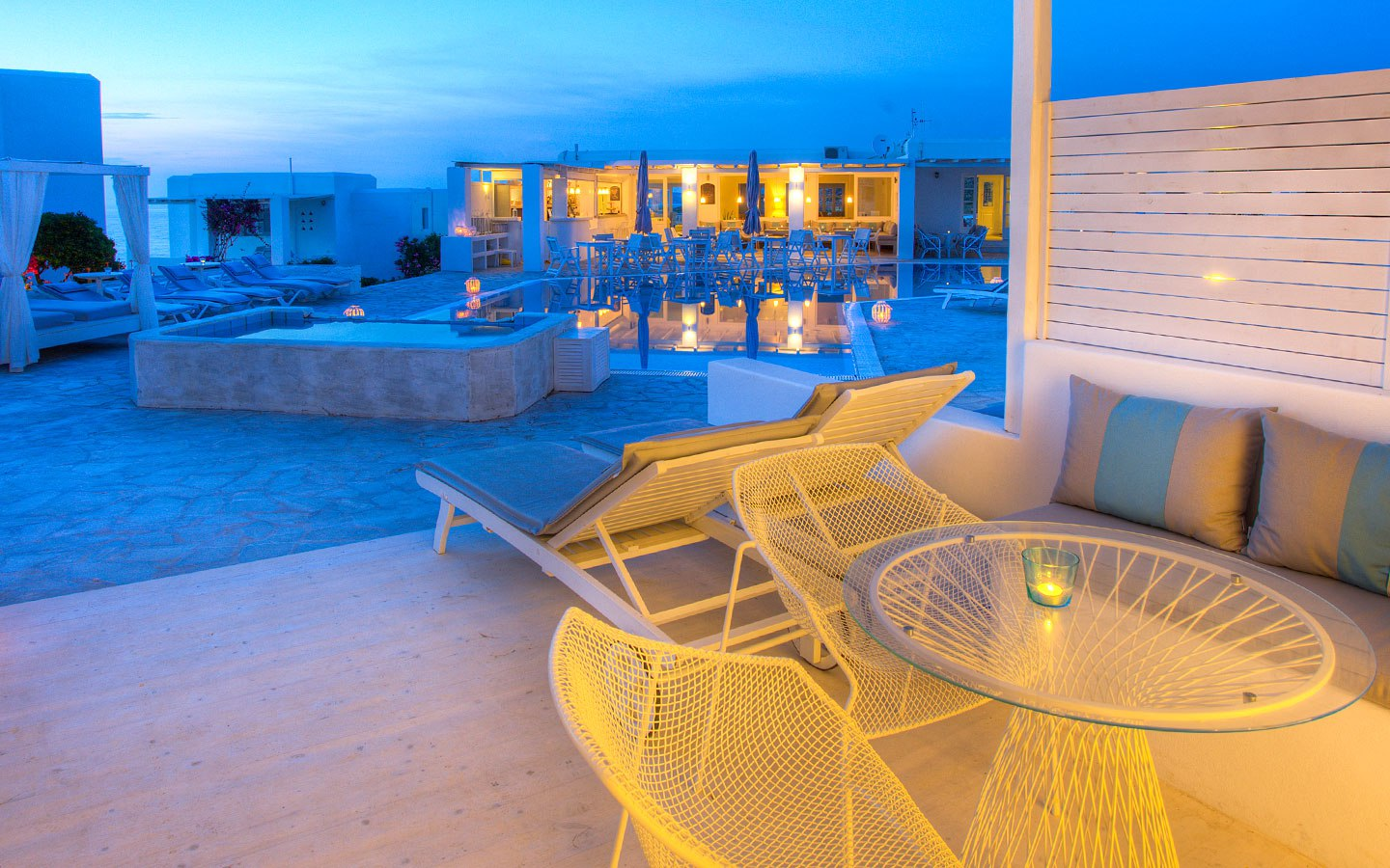 superior ground floor pool view suite paros luxury hotel. Black Bedroom Furniture Sets. Home Design Ideas